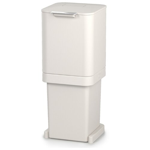 Контейнер для мусора с двумя баками Totem Pop 40 л белый контейнер для мусора с прессом titan 20 л серый joseph joseph 30039