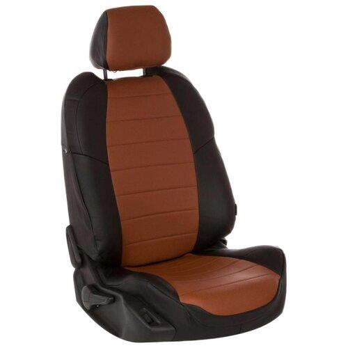Комплект чехлов АВТОПИЛОТ из экокожи для Mazda 3 (ma-3-3s14) черный/коричневый