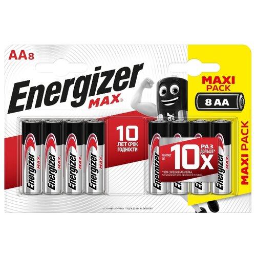 Фото - Батарейка Energizer Max AA/LR6 8 шт блистер батарейка duracell turbo max aa lr6 4 шт блистер