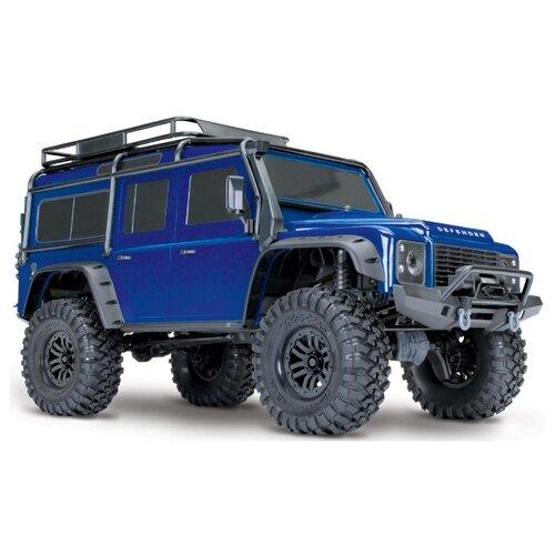 Купить Внедорожник Traxxas TRX-4 Land Rover Defender 1/10 (82056-4) 1:10 58.61 см синий, Радиоуправляемые игрушки