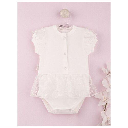 Купить Платье-боди Трия Нежный возраст размер 62-68, экрю, Платья и юбки