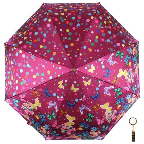 Зонт автомат FLIORAJ Premium Золотой брелок Бабочки и конфетти фиолетовый зонт автомат flioraj premium золотой брелок кошки черный