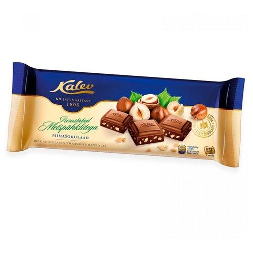 Шоколад Kalev молочный с дробленым лесным орехом 30%, 200 г
