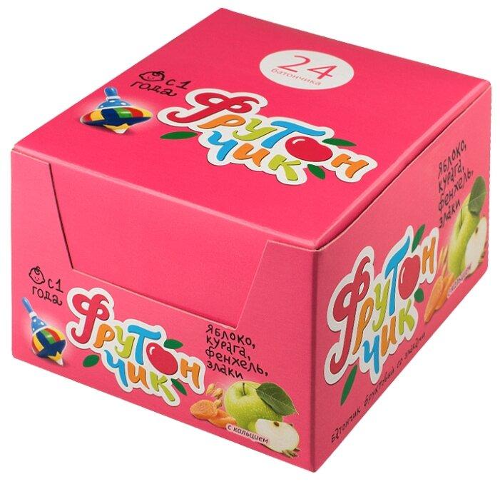 Батончик ЛЕОВИТ Фрутончик яблоко, курага, фенхель, злаки коробка (с 1-го года)