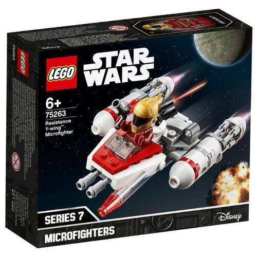 Конструктор LEGO Star Wars 75263 Episode IX Микрофайтеры: Истребитель Сопротивления типа Y lego star wars 75272 конструктор лего звездные войны истребитель сид ситхов