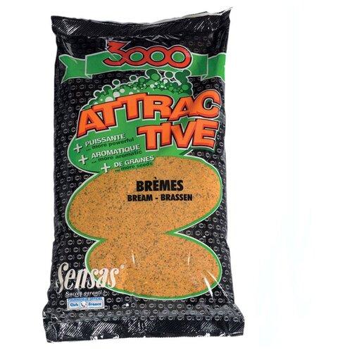 Прикормочная смесь Sensas 3000 Attractive Bremes 1000 г