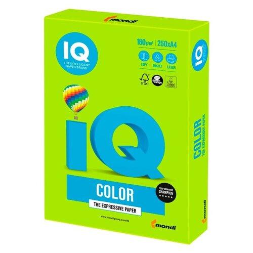 Фото - Бумага IQ Color А4 160 г/м² 250 лист. зеленая липа LG46 1 шт. бумага iq color а4 160 г м² 250 лист бледно лиловый la12 1 шт