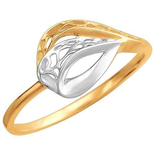 Эстет Кольцо из красного золота 01К0112319Р, размер 17 ЭСТЕТ