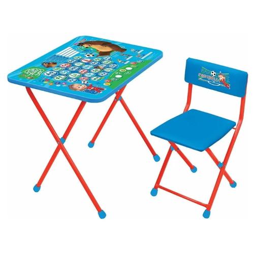 Купить Комплект Nika Английская азбука (КП2/4) 60x45 см голубой/красный, Парты и столы