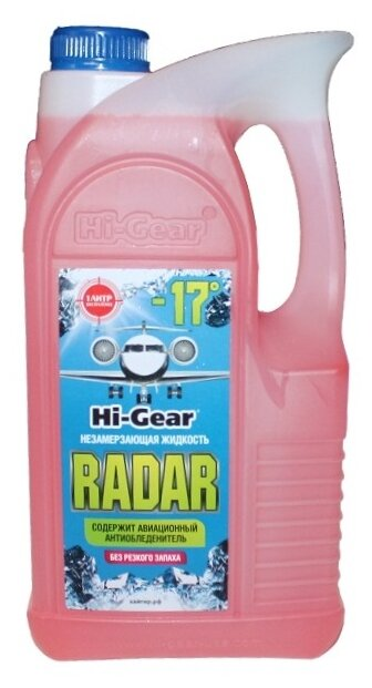 Жидкость для стеклоомывателя Hi-Gear HG5689, -17°C, 5 л