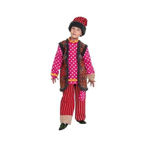 Купить Костюм КарнавалOFF Емеля (5067-01), красный/розовый, размер 134-140, Карнавальные костюмы