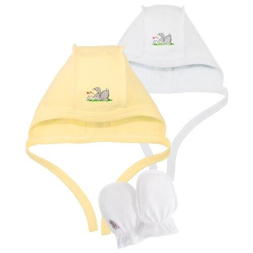 Купить Комплект Наша мама размер 35-38(56), белый/желтый, Головные уборы