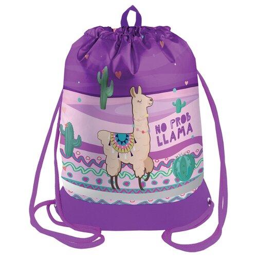 Купить Berlingo Мешок для обуви Lama(MS09422) фиолетовый, Мешки для обуви и формы