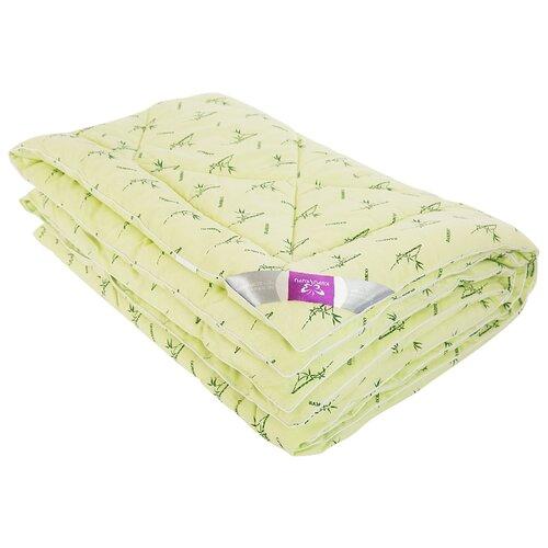 Одеяло Kupu-Kupu Бамбук Classic в поплине, легкое, 140 х 205 см (фисташковый с рисунком бамбука) одеяло kupu kupu бамбук classic трикотажное легкое 140 х 205 см экрю