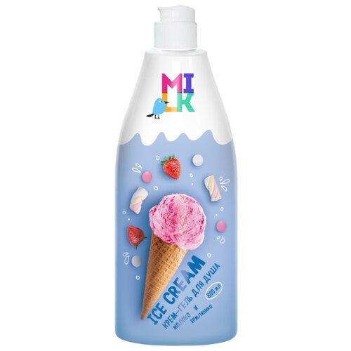 Крем-гель для душа MILK Ice Cream Молоко и земляника, 800 мл недорого