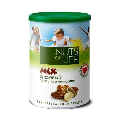 Смесь орехов Nuts for Life Микс ореховый в специях и пряностях 200 г
