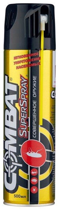 Аэрозоль Combat Super Spray Plus от ползающих насекомых, 400 мл.