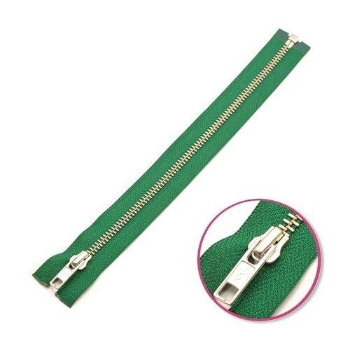 Купить YKK Молния разъёмная 0573985/55, 55 см, зеленый/анти-никель, Молнии и замки