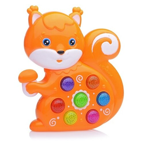 Купить Развивающая игрушка Азбукварик Веселушки Белочка оранжевый, Развивающие игрушки