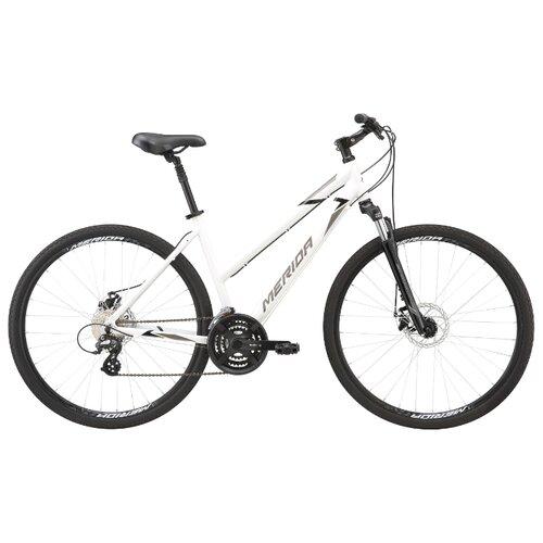 Горный гибрид Merida Crossway L 15-MD (2020) white/tan S (требует финальной сборки) велосипед merida crossway 20 md 2013