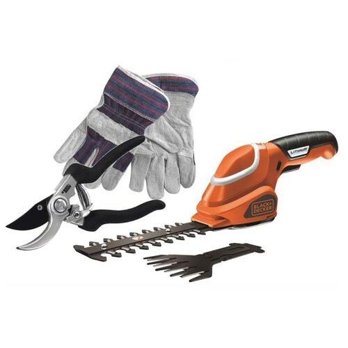 Ножницы-кусторез аккумуляторный BLACK+DECKER GSL700KIT-QW 15 см ножницы кусторез аккумуляторный al ko gs 7 2 li multi cutter 16 см