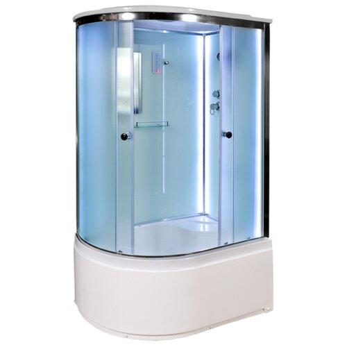 Фото - Душевая кабина Deto D120S R с LED-подсветкой высокий поддон 120см*80см белый/хром матовое душевая кабина deto d102 l низкий поддон 120см 80см белый хром матовое
