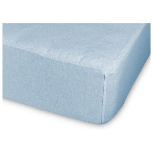 Фото - Простыня Cleo трикотажная на резинке 140гр 120 х 200 см голубой простыня amore mio трикотажная на резинке 120 х 200 см сиреневый