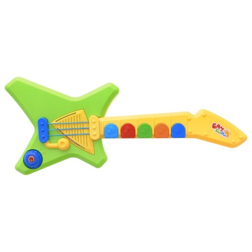 цена на S+S Toys гитара Бамбини зеленый/желтый