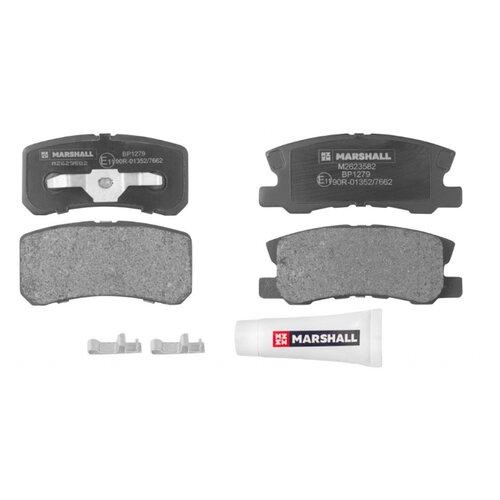 Дисковые тормозные колодки задние Marshall M2623582 для Mitsubishi ASX, Mitsubishi Pajero (4 шт.) накладка заднего бампера mitsubishi mz576692ex для mitsubishi asx 2016