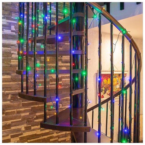 Гирлянда NEON-NIGHT Твинкл Лайт, 40 LED, 600 см, 40 ламп, разноцветный/зеленый провод гирлянда neon night колокольчики 20 led 280 см 20 ламп разноцветный зеленый провод