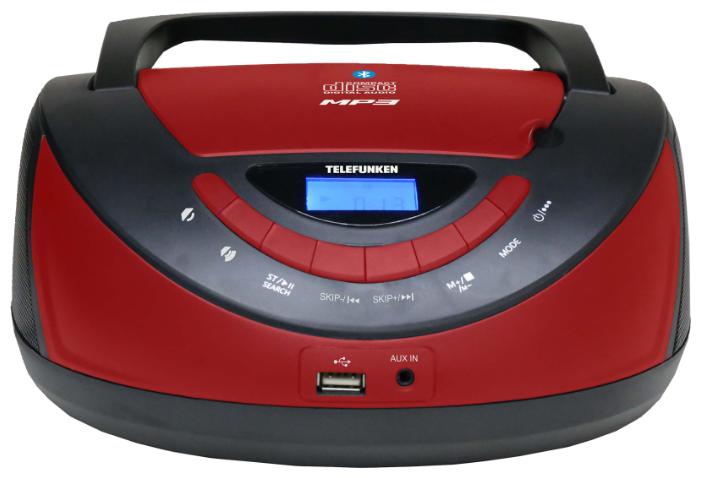Купить Магнитола TELEFUNKEN TF-CSRP3497B черный/красный по низкой цене с доставкой из Яндекс.Маркета (бывший Беру)