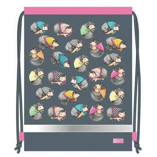 Купить Феникс+ Мешок для обуви Ежики (51605) серый/розовый, Мешки для обуви и формы