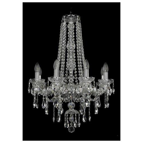 Люстра Bohemia Ivele Crystal 1415 1415/8/200/h-76/Ni, E14, 320 Вт