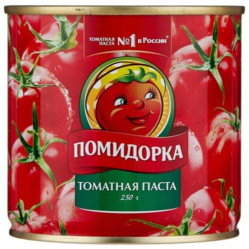 Помидорка Томатная паста, жестяная банка 250 г кубань продукт паста томатная 70 г