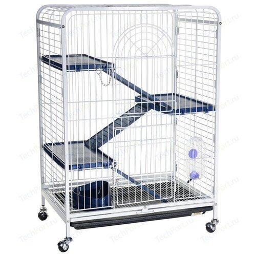 Клетка для грызунов Kredo D800 64х43.5х92.5 см белый/синий