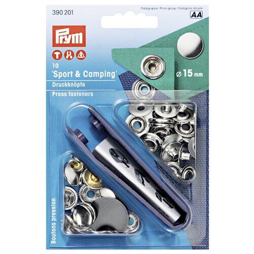 Prym Кнопки непришивные Спорт и кемпинг (390199, 390200, 390201), серебристый, 15 мм, 10 шт.
