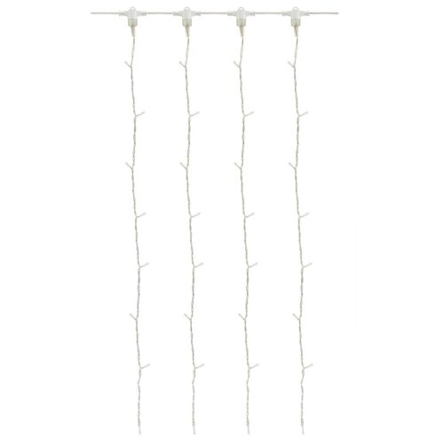 цена на Гирлянда TDM ЕLECTRIC Занавес 100 х 100 см, SQ0361-0012, 70 ламп, белый/прозрачный провод