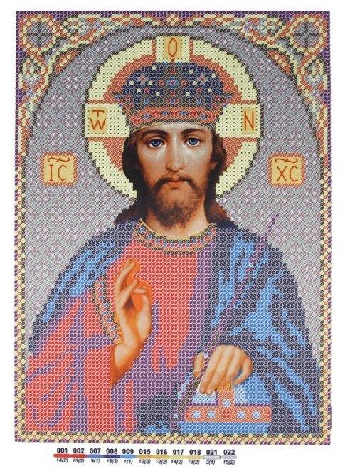Канва для вышивания с рисунком NOVA SLOBODA Христос БИС-9061 21 х 29.7 см