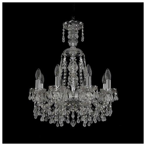 Люстра Bohemia Ivele Crystal 1410 1410/8/160/XL-60/Ni/V0300, E14, 320 Вт bohemia ivele crystal 1410 6 160 ni v0300 sh2