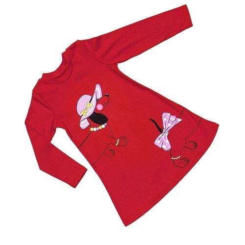 Платье ALENA размер 98-104, красный