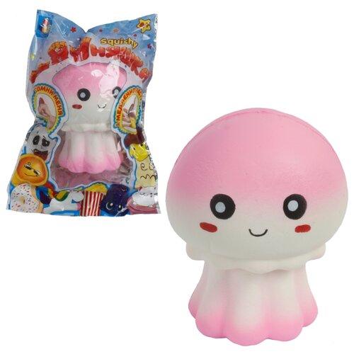 Игрушка-мялка 1 TOY Медуза Т14035 бело-розовый