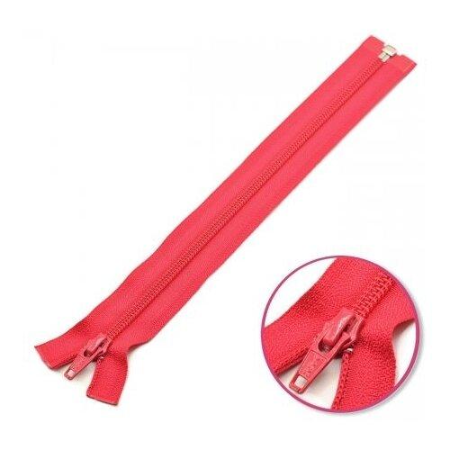 Купить YKK Молния витая разъёмная 0004706/55, 55 см, темно-розовый/темно-розовый, Молнии и замки