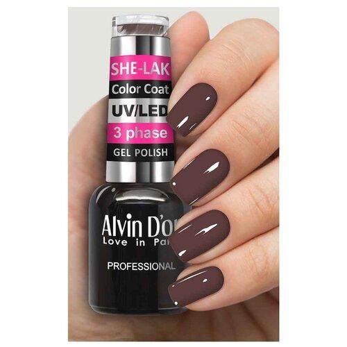 Купить Гель-лак для ногтей Alvin D'or She-Lak Color Coat, 8 мл, оттенок 3553