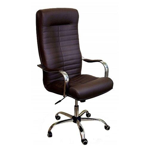 Компьютерное кресло Креслов Орион КВ-07-130112, обивка: искусственная кожа, цвет: шоколадный кресло компьютерное креслов орман кв 08 130112 0453