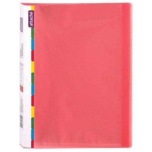 Купить Attache Папка на 20 файлов Diagonal A4, пластик красный, Файлы и папки