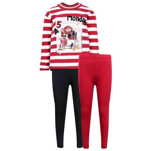 Комплект одежды Mayoral размер 110, белый/красный/синий комплект одежды mayoral размер 110 белый зеленый