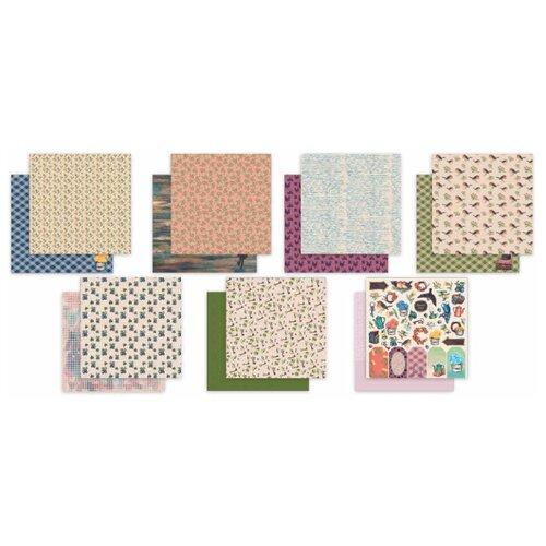 Купить Бумага Mr. Painter 30, 5x30, 5 см, 7 листов, PSR-K 180107 Сказки Августа розовый/зеленый, Бумага и наборы