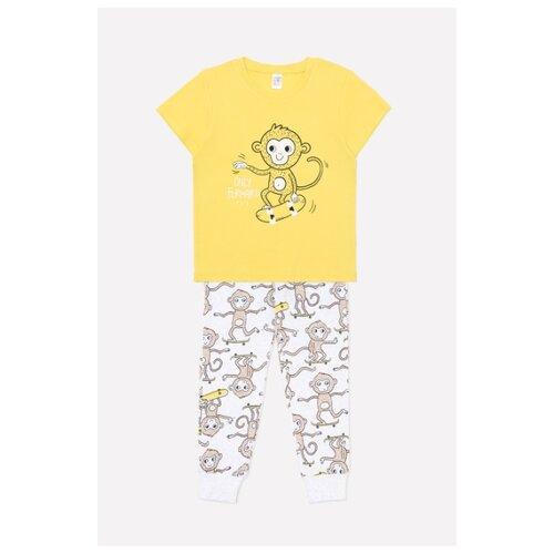 Пижама crockid размер 92, горчица