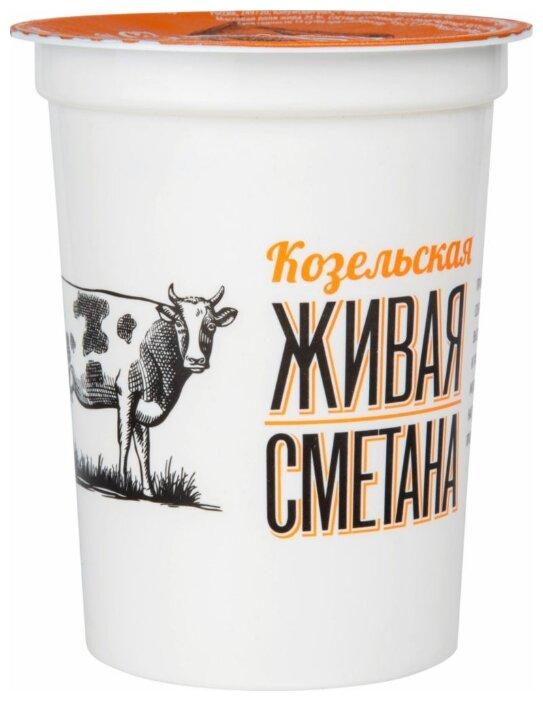 Козельский молочный завод Сметана живая Козельская 21%
