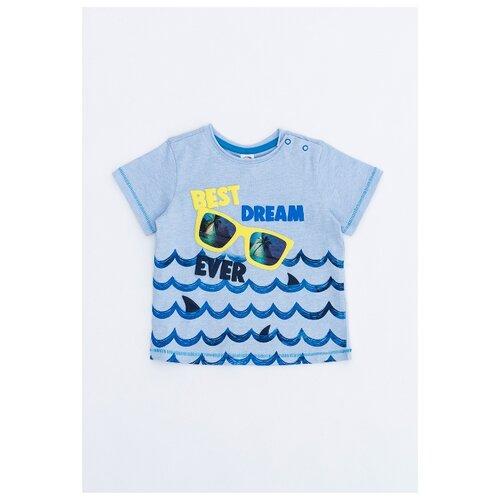 Купить Футболка Pixo, размер 86, голубой, Футболки и рубашки